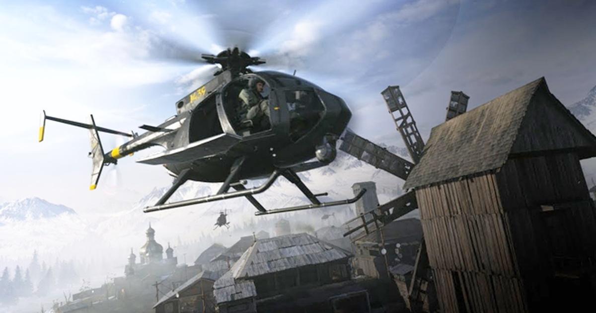 В Call Of Duty: Warzone игрок использует мину, чтобы уничтожить вертолет