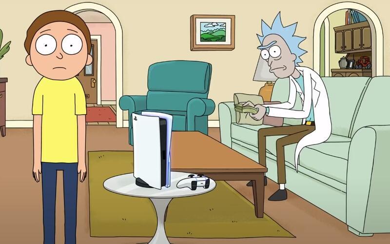 Коллаборация Рика и Морти с Sony для продвижения PS5