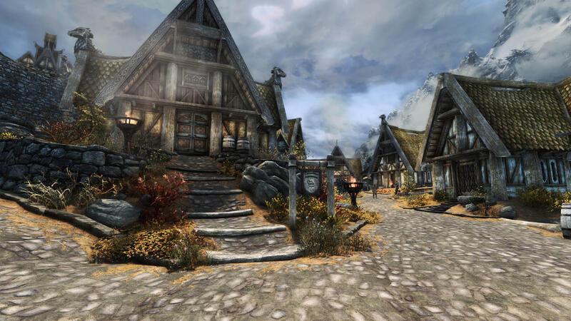 Мод для Skyrim перерабатывающий все текстуры зданий