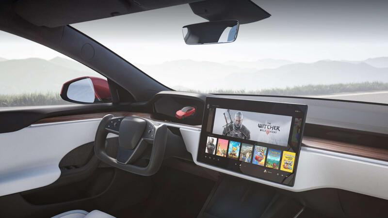 В новой Tesla Model S можно играть в Cyberpunk 2077!
