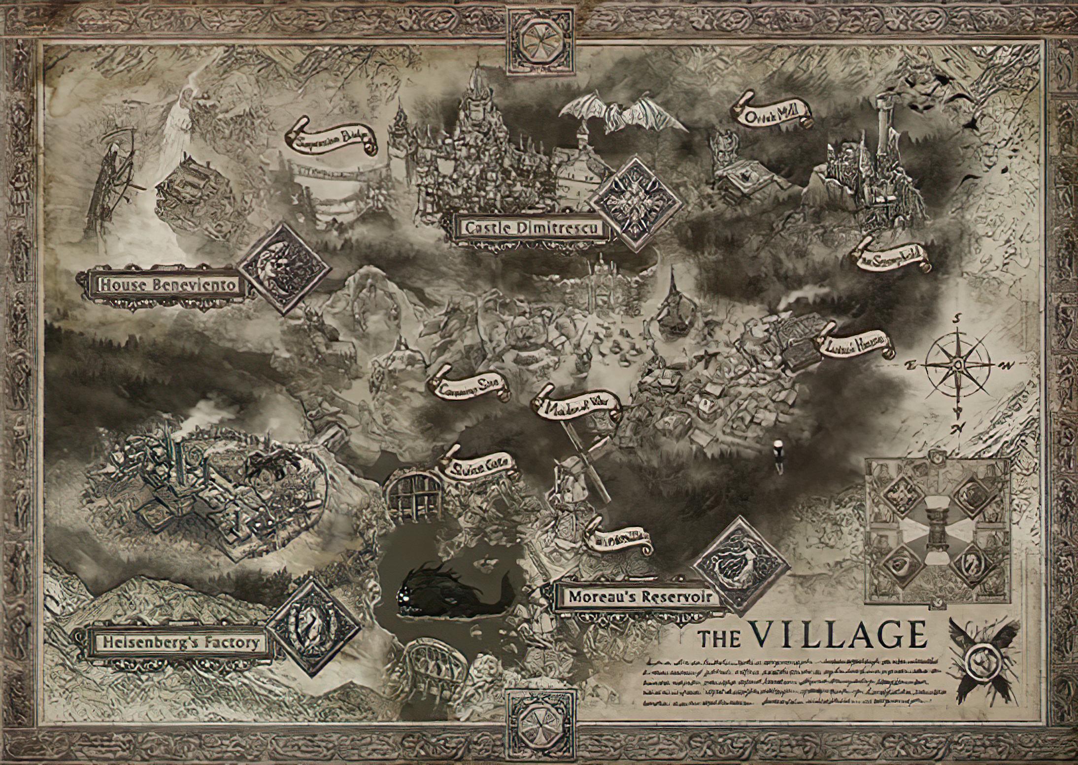 карта игры Resident Evil: Village