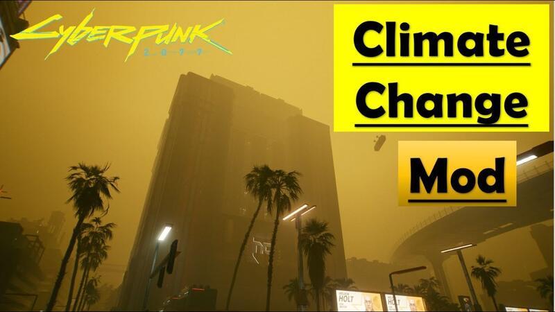 Вышел мод для Cyberpunk 2077 меняющий погоду