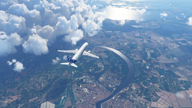 Мод Microsoft Flight Simulator добавляет застрявший корабль в Суэцком канале