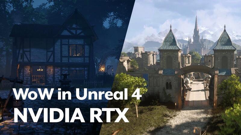 Фанатский проект с локациями World of Warcraft на Unreal Engine 4 с трассировкой лучей