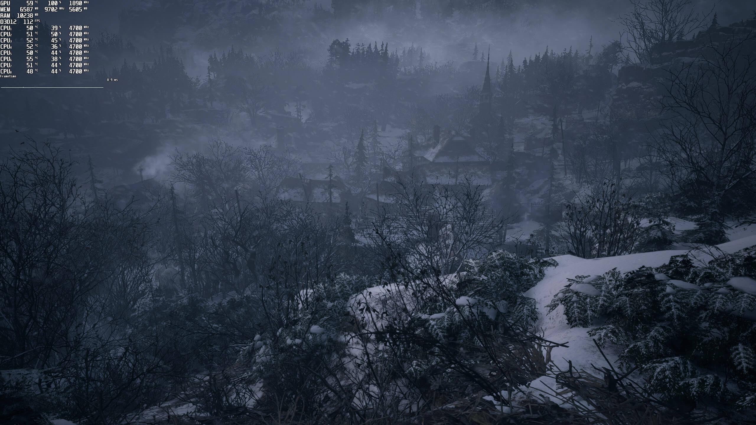 Тест сцены деревни в Resident Evil Village