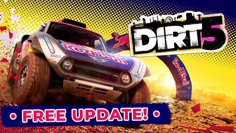 DIRT 5 Free Red Bull Revolution Update добавляет кроссплатформенную поддержку