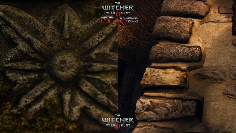 The Witcher 3 HD Reworked Project NextGen - второе сравнительное видео